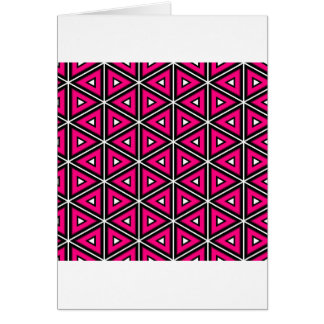 Hot pink triangles card