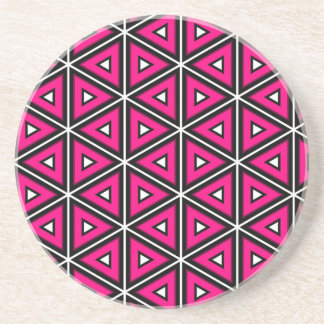 Hot pink triangles coaster