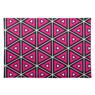 Hot pink triangles placemat