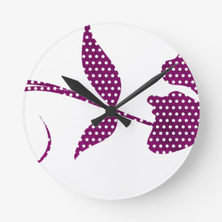 hot pink triangles round clock