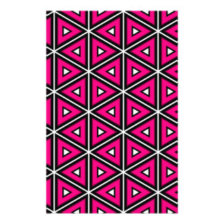 Hot pink triangles stationery