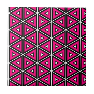 Hot pink triangles tile