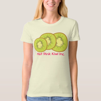 hot pink tropical kiwi fruit t-shirt apron appa...