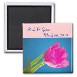 Hot Pink Tulip Magnet