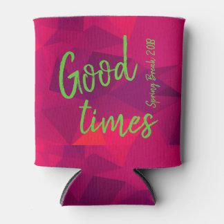 Hot Pink Vector Cool Mint Spring Beach Break Gift Can Cooler