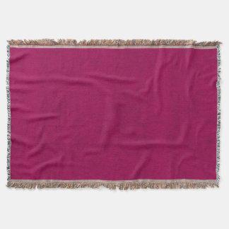 Hot Pink Velvet Look Girls Night Throw Blanket