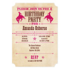 Hot Pink Vintage Cowboy Birthday Invitation