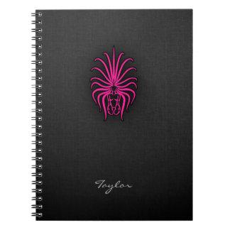 Hot Pink Virgo Zodiac Sign Spiral Notebook