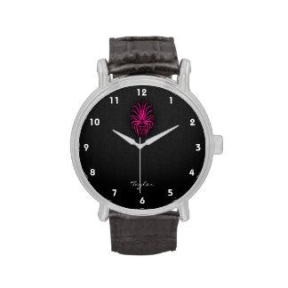 Hot Pink Virgo Zodiac Sign Wristwatch