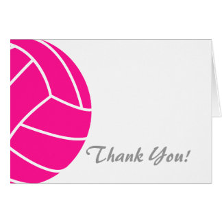 Hot Pink Volleyball Card