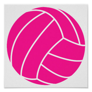 Hot Pink Volleyball Poster