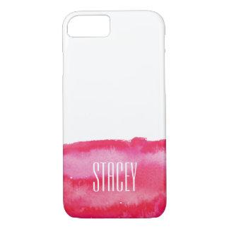 Hot Pink Watercolor Monogram iPhone 8/7 Case