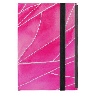 Hot Pink Watercolour Break iPad Mini Cover
