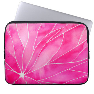 Hot Pink Watercolour Break Laptop Sleeve