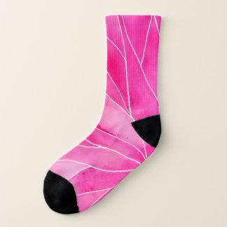 Hot Pink Watercolour Break Socks