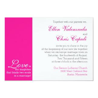 HOT PINK WEDDING INVITATION