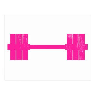 Hot Pink Weight Postcard