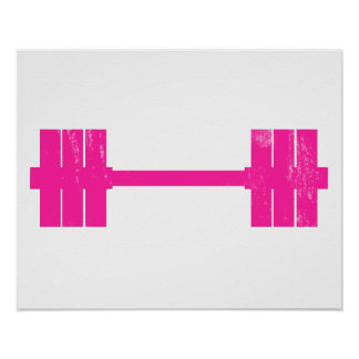Hot Pink Weight Poster