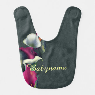 Hot Pink & White Calla Lily Bouquet Bibs