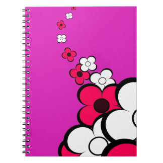 Hot Pink & White Flowers Notebook