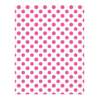 Hot Pink White Polka Dots Pattern Flyers