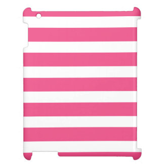 Hot Pink Wide Stripes Cover For The iPad