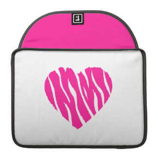 Hot Pink Wild Heart Sleeve For MacBooks