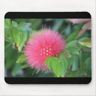 Hot Pink Wildflower Themed Mousepad