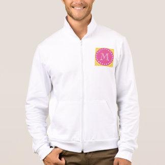Hot Pink, Yellow Chevron   Your Monogram Jacket