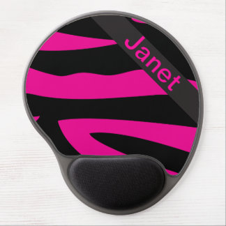Hot Pink Zebra Animal Print | Personalize Gel Mouse Pad