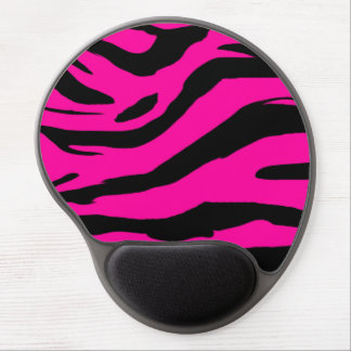 Hot Pink Zebra Print Gel Mouse Pad