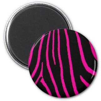 Hot Pink Zebra Print Magnet