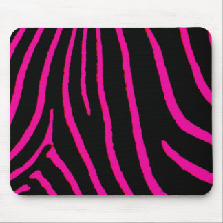 Hot Pink Zebra Print Mouse Pad