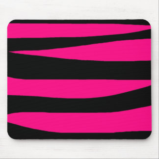 Hot pink zebra print mouse pad