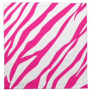 Hot Pink Zebra print napkin