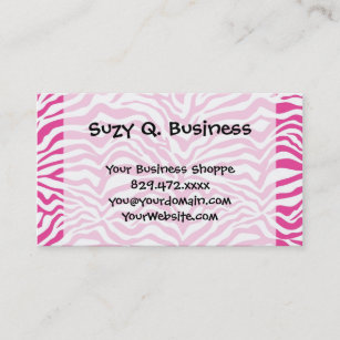 Novelty business cards zazzle au hot pink zebra print wild animal stripes novelty business card reheart Image collections