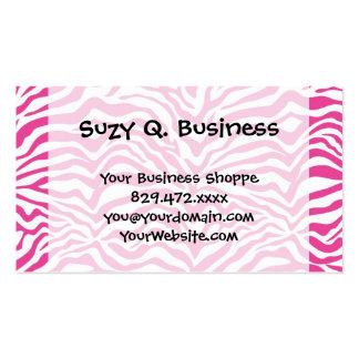 Hot Pink Zebra Print Wild Animal Stripes Novelty Pack Of Standard Business Cards
