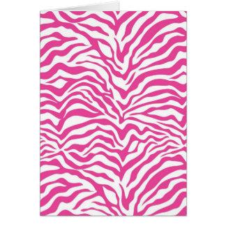 Hot Pink Zebra Print Wild Animal Stripes Novelty Greeting Card