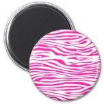 Hot Pink Zebra stripe pattern animal print Magnet