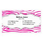 Hot Pink Zebra stripe pattern animal print Pack Of Standard Business Cards