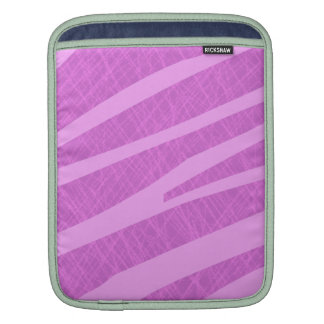 Hot Pink Zebra Stripes and Scratches Sleeve For iPads