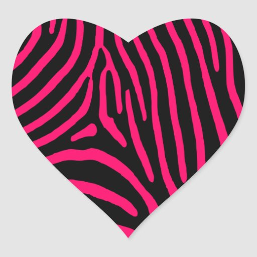 Hot Pink Zebra Stripes Sticker