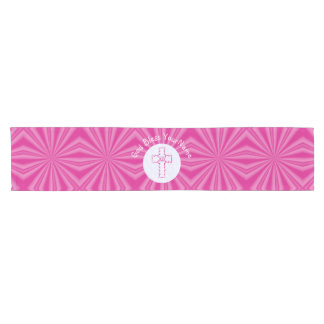 Hot Pink Zig Zag Cross on White and Bright Pink