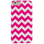 Hot Pink Zigzag Chevron iPhone 6 Plus Case Barely There iPhone 6 Plus Case