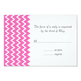 Hot Pink Zigzag Pattern Card