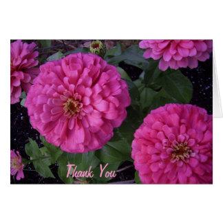 Hot Pink Zinnia- Thank you Card