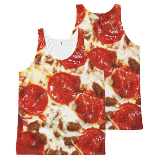Hot Pizza Meme All-Over Print Tank Top