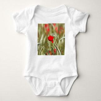 Hot Poppy Baby Bodysuit