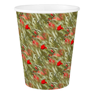 Hot Poppy Paper Cup
