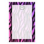 Hot Purple/Pink Zebra Stripes Monogram